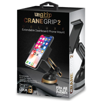 Aduro Crane Grip 2 Deluxe Grip Clip Suction Dashboard Extendable Phone Mount - Gold