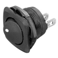 NTE Electronics Rocker Switch Round Hole SPST
