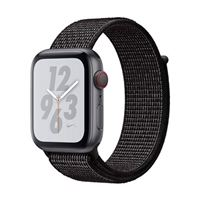 Apple Watch Nike+ GPS/ Cellular 44mm Space Gray Aluminum Smartwatch - Black Nike Sport Loop Band