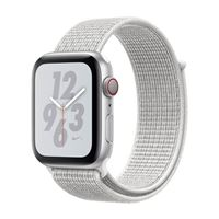 Apple Watch Nike+ GPS/ Cellular 44mm Silver Aluminum Smartwatch - White Nike Sport Loop Band