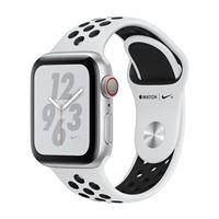 Apple Watch Nike+ GPS/ Cellular 44mm Silver Aluminum Smartwatch - Pure Platinum/Black Nike Sport Band