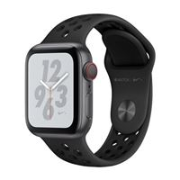 Apple Watch Nike+ GPS/ Cellular 40mm Space Gray Aluminum Smartwatch - Black Nike Sport Loop Band