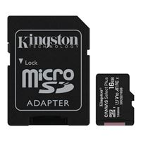 Kingston 16GB Canvas Select Plus MicroSDHC Class 10/ UHS-1 Flash Memory Card w/ Adapter