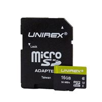 Unirex 16GB MicroSD with SD Adapter