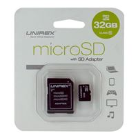 Unirex 32GB MicroSD with SD Adapter
