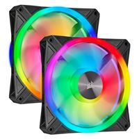 Corsair QL140 RGB Hydraulic Bearing 140mm Case Fan Kit - Twin Pack