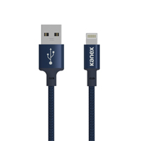 Kanex Premium DuraBraid Lightning ChargeSync Cable 6 in. - Navy Blue