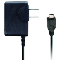 iEssentials 1 Amp Tethered Micro-USB Wall Charger - Black