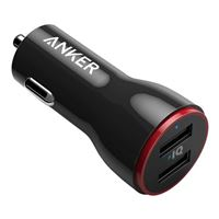 Anker PowerDrive 2 Elite Dual USB Type-A Car Charger w/ PowerIQ - Black