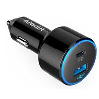 Anker PowerDrive PD II USB Type-C w/ PD and USB Type-A w/PowerIQ Car Charger - Black