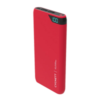 Cygnett ChargeUp 10,000 mAh Dual USB-Type-A 2.4 A @ 5 VDC Power Bank - Black