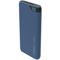 Cygnett ChargeUp 10,000 mAh Dual USB-Type-A 2.4 A @ 5 VDC Power Bank - Blue
