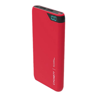 Cygnett ChargeUp 10,000 mAh Dual USB-Type-A 2.4 A @ 5 VDC Power Bank - Red