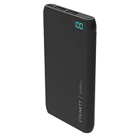 Cygnett ChargeUp Boost 5,000 mAh Dual USB-Type-A 2.4 A @ 5 VDC Power Bank - Black