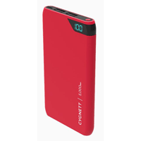 Cygnett ChargeUp Boost 5,000 mAh Dual USB-Type-A 2.4 A @ 5 VDC Power Bank - Red