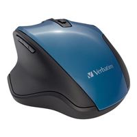 Verbatim Silent Ergonomic Wireless Blue LED Mouse – Dark Teal