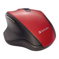 Verbatim Silent Ergonomic Wireless Blue LED Mouse – Red