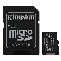 Kingston 64GB Canvas Select Plus MicroSDHC Class 10/ UHS-1 Flash Memory Card w/ Adapter (2 Pack)