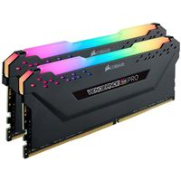 Corsair Vengeance RGB Pro 32GB (2 x 16GB) DDR4-3200 PC4-25600 CL16 Dual Channel Desktop Memory Kit CMW32GX4M2E3200C16 - Black