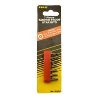 Enkay Products Tamper Proof Torq Bit Set, 7 Pieces