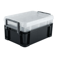 Titan Tools 3-Way Stackable Storage Tote - 18 inch