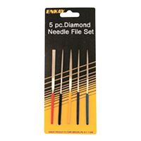 "Enkay Products Diamond File Set, 4"" Length, 3 pieces"