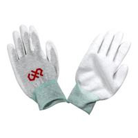 Hakko Anti-Static Palm Coated ESD Safe Gloves