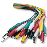 NTE Electronics Multi Color Insulated Alligator Test Lead Set - 10 Pack