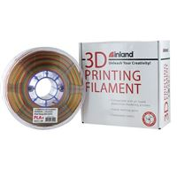Inland 1.75mm Rainbow PLA 3D Printer Filament - 1kg Spool (2.2 lbs)