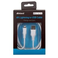 Inland Lightning Male to USB 2.0 (Type-A) Male Charge/Sync Cable 6 ft. - White