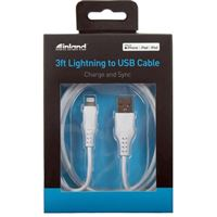 Inland Lightning Male to USB 2.0 (Type-A) Male Charge/Sync TPE Cable 3 ft. - White