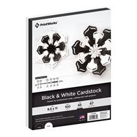 Printworks Black & White Cardstock 100 Sheets