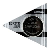 Energizer CR2430 3 Volt Lithium Coin Cell Battery - 1 Pack
