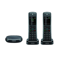 Motorola AXH02 Wireless Home Telephone Twin Pack w/ Alexa built-in