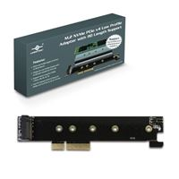 Vantec M.2 NVMe PCIe x4 Low Profile Adapter with 110 Length Support