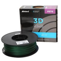 Inland 2.85mm Translucent Green PETG 3D Printer Filament - 1kg Spool (2.2 lbs)