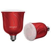 Sengled Pulse LED Light Bulb with Wireless Speaker - Red