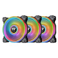 Thermaltake Riing Quad Black 12 RGB Hydraulic Bearing 120mm Case Fan -...