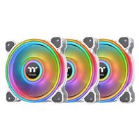 Thermaltake Riing Quad White 12 RGB Hydraulic Bearing 120mm Case Fan - Triple Pack
