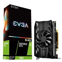 EVGA GeForce GTX 1660 Black Single-Fan 6GB GDDR5 PCIe 3.0 Graphics Card
