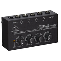 Behringer Microamp HA400 4 channel Headphone Amplifier