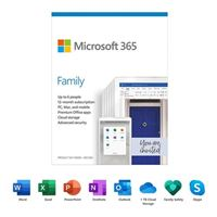 Microsoft 365 Family - 1 Year, Up to 6 People