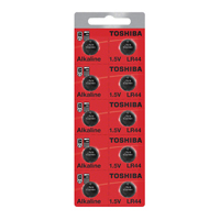 Toshiba LR44 1.5 Volt Alkaline Button Cell Battery - 10 Pack