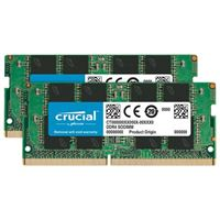 Crucial 64GB DDR4-2666 (PC4-21300) CL19 Laptop Memory Kit (Two 32GB...