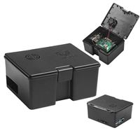 Vilros Raspberry Pi 4 Compatible Use and Store Accessory Set (Black)