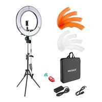 "Neewer 18"" Dimmable LED Ring Light and Stand Kit w/ Carrying Bag"