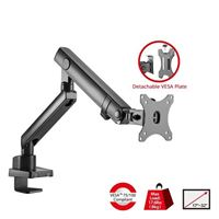 SIIG Aluminum Mechanical Spring Slim Monitor Arm - Single