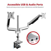 SIIG Dual Monitor Gas Spring Desk Mount w/ USB Port