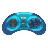 Retro-bit SEGA Genesis Wireless Arcade Pad 2.4 GHz - Blue