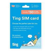 Ting Bring Your Own Phone LTE 3-in-1 SIM Card Kit w/ $30 Free Service Credit